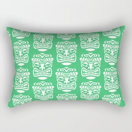 Tiki Pattern Green Rectangular Pillow
