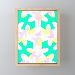 Flamingo vibrant motif Framed Mini Art Print
