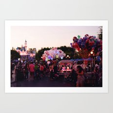 Los Angeles Disneyland Art Print