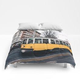 Tram in Milan Comforters