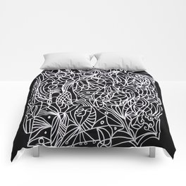 Trust in life - Black and White Art Comforters