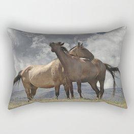 Montana Horses near Glacier National Park Rectangular Pillow