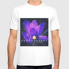 what is photography  MEDIUM White Mens Fitted Tee