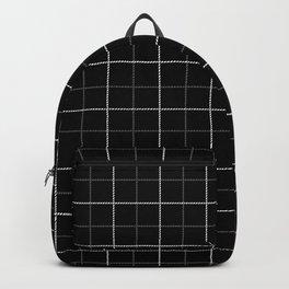 Tattersall Windowpane Check Plaid (black/white/gray) Backpack