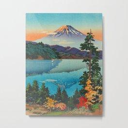 Tsuchiya Koitsu Vintage Japanese Woodblock Print Fall Autumn Mount Fuji Metal Print