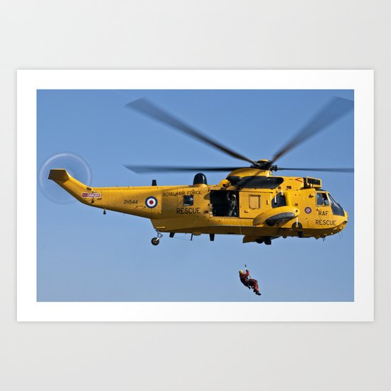 RAF Sea King Search & Rescue Helicopter 2 Art Print