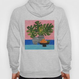Pink Wall Monstera Hoody