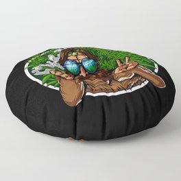 Bigfoot Hippie Smoking Weed Floor Pillow