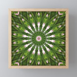 Midsummer dream mandala Framed Mini Art Print