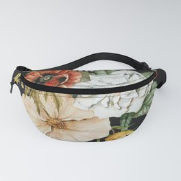 Wildflower Bouquet on Charcoal Fanny Pack