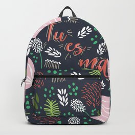The Garden of Love - living coral deep blue Backpack