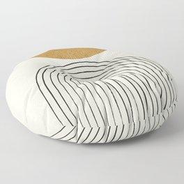 Arch Balance Gold Floor Pillow