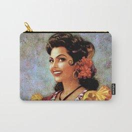 Mexican Golden Flamenco Calendar Girl by Jesus Helguera Carry-All Pouch
