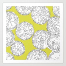 Extra Trendy Limes Art Print