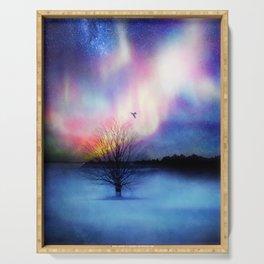 Aurora Boreal Serving Tray