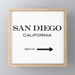 San diego Framed Mini Art Print