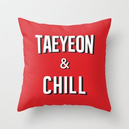 TAEYEON & CHILL Throw Pillow