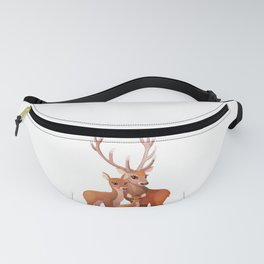 Happy family of deer Fanny Pack
