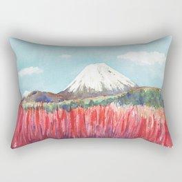 Ruapehu volcano , Tongariro National Park New Zealand Rectangular Pillow