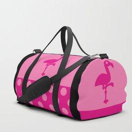 Pink Simple Flamingo Duffle Bag