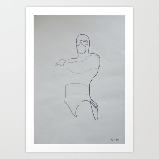 One line Phantom Art Print