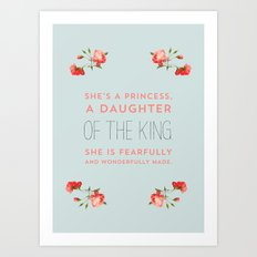 Daughter of the king Art Print