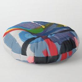 Zen Abstract ExpressionismArt  Floor Pillow