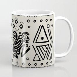 Aztec Monkeys and Ornaments - Black Coffee Mug