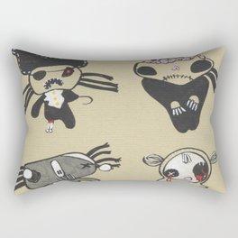 Zombie Line-up Rectangular Pillow