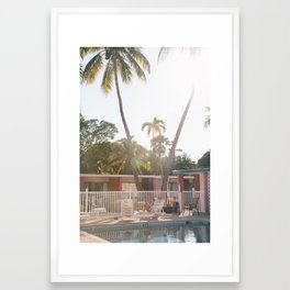 Motel Pool and Sun Framed Art Print