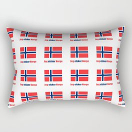 flag of norway 6  snow,scandinavia,scandinavian,norwegian,oslo Rectangular Pillow