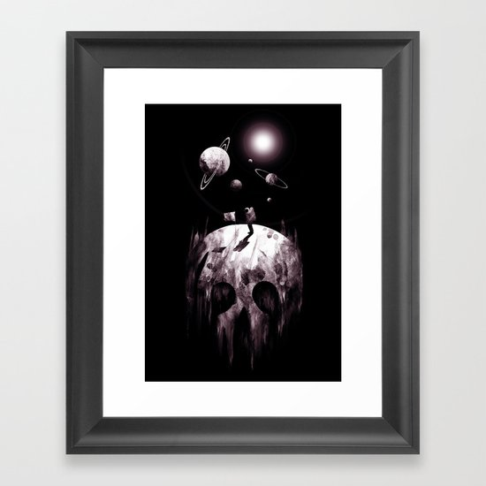 the darkside Framed Art Print