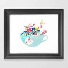 Tropical milk dream Framed Art Print