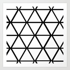 WHITE & BLACK TRIANGLES  Art Print