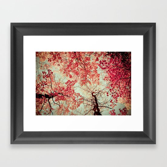 Autumn Inkblot Framed Art Print
