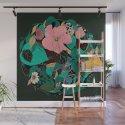 Floral Wreath - Botanical, Illustration, Flowers, Spring, Bouquet, Garden by catalinavillegas