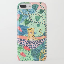 Jungle Leopard Family iPhone Case