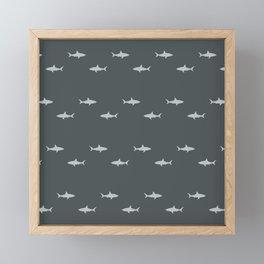 Sharks Pattern Framed Mini Art Print