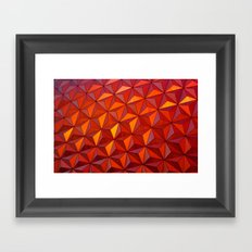 Geometric Epcot Framed Art Print