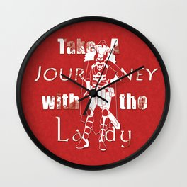 Take A Journey With The Lady Wall Clock