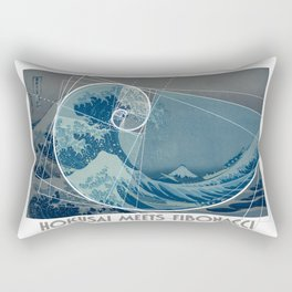 Hokusai Meets Fibonacci, Golden Ratio #2 Rectangular Pillow