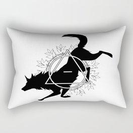 Tribal Wolf Rectangular Pillow