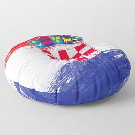 Croatia's Flag Design Floor Pillow