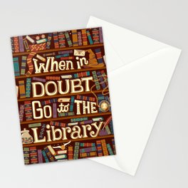 Go to the library Stationery Cards
