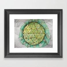 Green Mandala Framed Art Print
