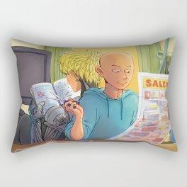 Lazy Sunday with Sensei Rectangular Pillow