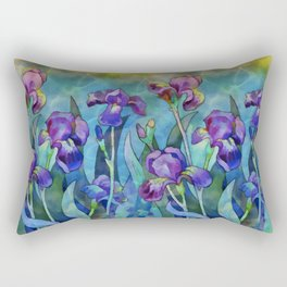 Fantasy Irises Rectangular Pillow