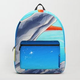 tardis space at starry night Backpack