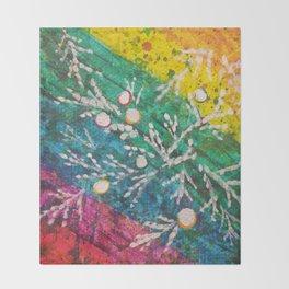 Leaves on the World Tree: Brahui Juniper Throw Blanket
