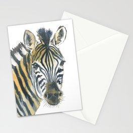 Zebra and Birds Stationery Cards